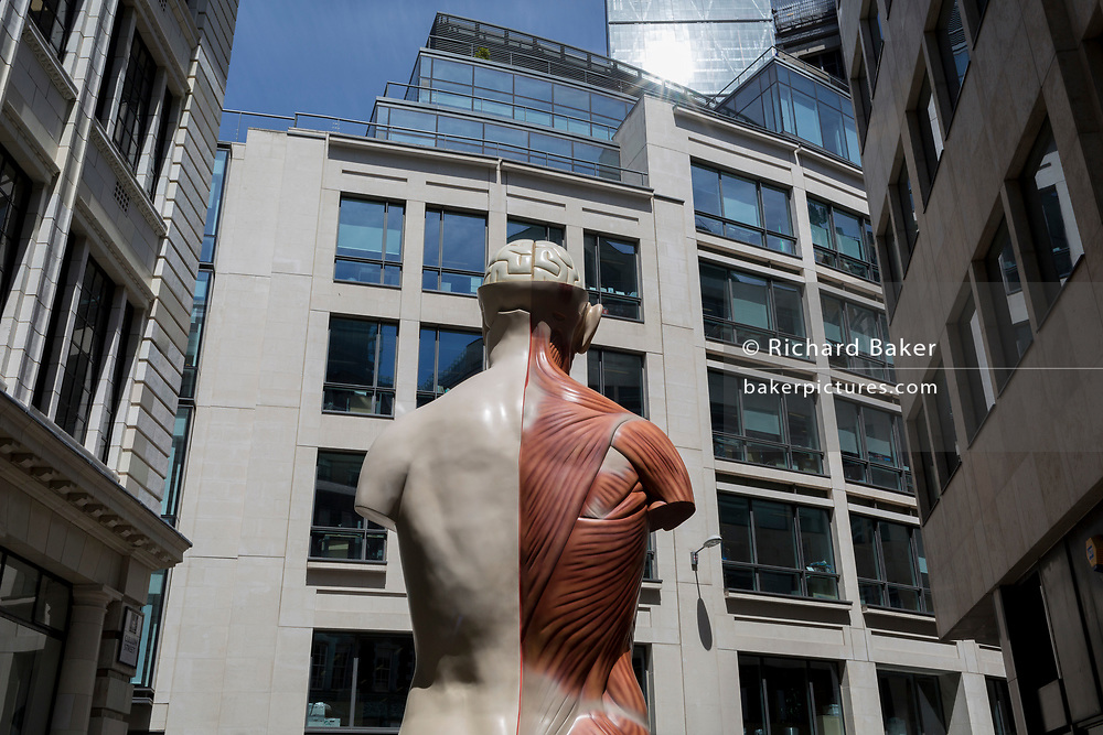 As part of the annual 'Art in the City' in the City of London, the artwork entitled Temple (2008) by Damien Hirst occupies a space in Lime Street in the heart of the capital's financial district, on 26th June 2017 in the City of London, England.