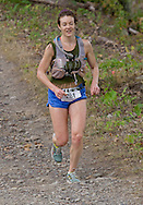 New Paltz, New York - Sarah LaMoy runs through the Mohonk Preserve during the Shawangunk Ridge Trail Run/Hike 20-mile race on Sept. 20, 2014.