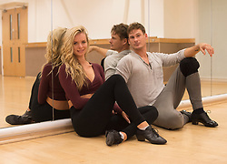 EMBARGOED TO 0001 FRIDAY OCTOBER 5 Strictly Come Dancing contestants Lee Ryan and Nadiya Bychkova after practicing their latest dance routine at a dance studio in London.
