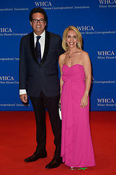 Marc Adelman (L) and Dana Bash arrive for the White House Correspondents' Association (WHCA) dinner in Washington, D.C., on Saturday, April 29, 2017 (Photo by Riccardo Savi)  *** Please Use Credit from Credit Field ***