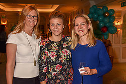 Left to right, Kate Hobhouse chairman of Fortnum & Mason, her daughter Alice Hobhouse and Caecilie Chambers at the launch of the Fortnum & Mason Christmas & Other Winter Feasts Cook Book by Tom Parker Bowles held at Fortnum & Mason, 181 Piccadilly, London, England. 17 October 2018.