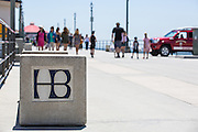 People Walking on the Huntington Beach Pier at Summer