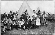 Boer families in a concentration camp at Eshowe, Zululand, 1900. 2nd Boer War 1899-1902