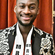 Mr Congo UK 2018-2019 Lambert Kalambay attend the Mr & Miss Congo 2020,on 29th February 2020 at Old Townhall,Stratford, London, UK.