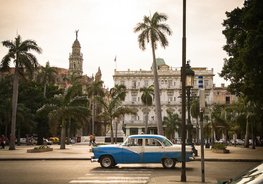Classic car / taxi in Parque Central, Havana, Cuba