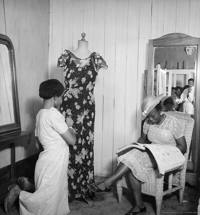Negress Dressmaking Establishment,  Lagos, Nigeria, Africa, 1937