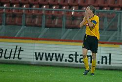 09-05-2007 VOETBAL: PLAY OFF: UTRECHT - RODA: UTRECHT<br /> In de play-off-confrontatie tussen FC Utrecht en Roda JC om een plek in de UEFA Cup is nog niets beslist. De eerste wedstrijd tussen beide in Utrecht eindigde in 0-0 / Jan Paul Saeijs<br /> ©2007-WWW.FOTOHOOGENDOORN.NL