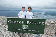 22/06/2014 Anne and Ellen Malcolm from Rahoon  who climbed the  765 metre Croagh Patrick in Mayo as part of the 30th Anniversary Celebrations of  Self Help Africa and to support the work of Self Help Africa in 10 countries in Africa. Photo: Andrew Downes