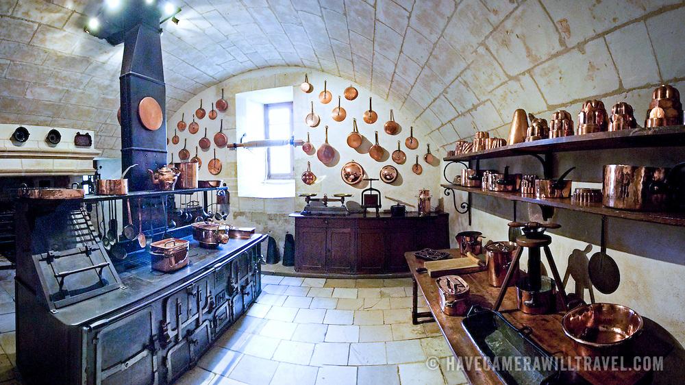 Kitchen of Chateau de Chenonceau