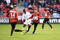 October 28, 2018 - Rennes, France - 21 Benjamin ANDRE (ren) - 25 MOUSSA DOUMBIA  (Credit Image: © Panoramic via ZUMA Press)