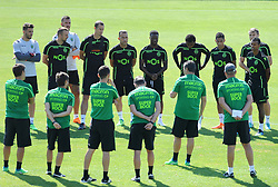 July 12, 2018 - Na - Nyon, 12/07/2018 - Sporting Clube de Portugal trained this morning during their pre-season training session in Switzerland at the Colovray Sports Center in Nyon. (Credit Image: © Atlantico Press via ZUMA Wire)