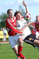 Fotball NM 3. runde, Byåsen - Rosenborg 1-8<br /> Lasse Strand og Frode Johnsen<br /> Foto: Carl-Erik Eriksson, Digitalsport