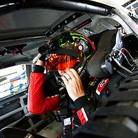 February 10, 2018 - Daytona Beach, Florida, USA: Kurt Busch (41) hangs out in the garage during practice for the Daytona 500 at Daytona International Speedway in Daytona Beach, Florida.