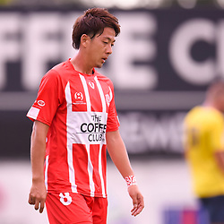 BRISBANE, AUSTRALIA - MARCH 4: Kazuya Ito of Olympic looks on during the NPL Queensland Senior Mens Round 5 match between Olympic FC and SWQ Thunder at Goodwin Park on March 4, 2017 in Brisbane, Australia. (Photo by Patrick Kearney/Olympic FC)