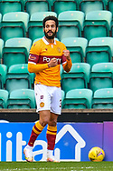 GOAL 0-1 Jordan Roberts (#39) of Motherwell FC celebrates after scoring the opening goal during the SPFL Premiership match between Hibernian FC and Motherwell FC at Easter Road, Edinburgh, Scotland on 27 February 2021.