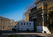 Prisoners arriving into HMP Wandsworth in SERCO high security vehicles on the 2nd of May 2007, HMP Wandsworth, London, United Kingdom. Serco, a private company provides secure Prisoner Escort Services on behalf of justice departments moving people between prisons or police stations and court appearances. HM Prison Wandsworth is a Category B men's prison at Wandsworth in the London Borough of Wandsworth, South West London, United Kingdom. It is operated by Her Majesty's Prison Service and is one of the largest prisons in the UK with a population over 1500 people.  (Photograph by Andy Aitchison)