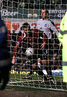 EVERTON V MANCHESTER UNITED FAC R6 GOODISON 19/02/2005<br /> WAYNE ROONEY (MANCHESTER UNITED) PICKS THE BALL OUT OF THE NET AFTER FORTUNE SCORES FIRST<br /> Photo Digitalsport