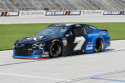 November 2, 2018 - Fort Worth, TX, U.S. - FORT WORTH, TX - NOVEMBER 02: Monster Energy NASCAR Cup Series driver Reed Sorenson (7) drives down pit row during practice for the AAA Texas 500 on November 02, 2018 at the Texas Motor Speedway in Fort Worth, Texas. (Photo by Matthew Pearce/Icon Sportswire) (Credit Image: © Matthew Pearce/Icon SMI via ZUMA Press)