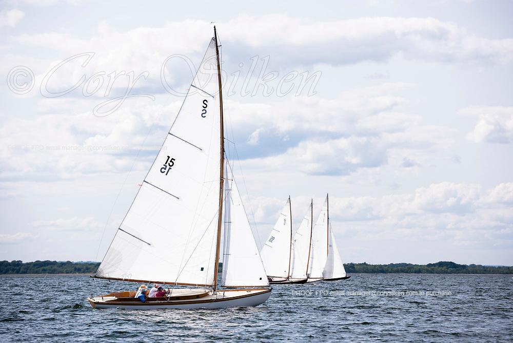 Shona sailing in the Panerai Herreshoff Classic Yacht Regatta.