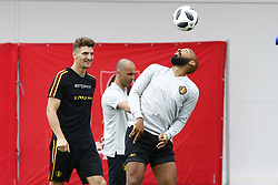 June 26, 2018 - Moscou, RUSSIE - MOSCOW, RUSSIA - JUNE 26 :  Thomas Meunier defender of Belgium and Thierry Henry ass. coach of Belgian Team during a training session as part of the preparation prior to the FIFA 2018 World Cup Russia group G phase match between Belgium and England at the Guchkova Sports center in Dedovsk on June 26, 2018 in Moscow, Russia, 26/06/2018 (Credit Image: © Panoramic via ZUMA Press)