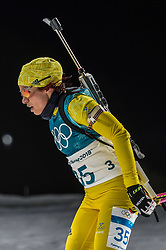 February 12, 2018 - Pyeongchang, Gangwon, South Korea - Elisabeth Hoegberg of Sweden competing at Women's 10km Pursuit, Biathlon, at olympics at Alpensia biathlon stadium, Pyeongchang, South Korea. on February 12, 2018. (Credit Image: © Ulrik Pedersen/NurPhoto via ZUMA Press)