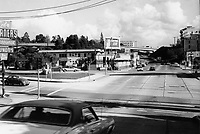 1971 Looking east on Franklin Ave. from Cahuenga Blvd