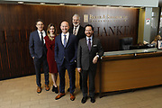 SHOT 1/8/19 12:13:33 PM - Bachus & Schanker LLC lawyers James Olsen, Maaren Johnson, J. Kyle Bachus, Darin Schanker and Andrew Quisenberry in their downtown Denver, Co. offices. The law firm specializes in car accidents, personal injury cases, consumer rights, class action suits and much more. (Photo by Marc Piscotty / © 2018)