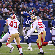 New York Giants quarterback Eli Manning in action during his side loss during the New York Giants V San Francisco 49ers, NFL American Football match at MetLife Stadium, East Rutherford, NJ, USA. 16th November 2014. Photo Tim Clayton