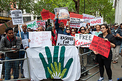 Demonstrators gathered outside India House in London to show support for Kashmiris and to protest against occupation and oppression by India in Kashmir. <br /> <br /> Richard Hancox | EEm 10082019