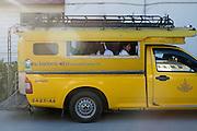 School girls in a car, in Fang, Thailand. PHOTO TIAGO MIRANDA