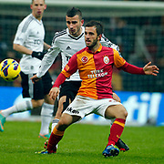Galatasaray's Emre Colak (F) during their Turkish superleague soccer derby match Galatasaray between Besiktas at the TT Arena at Seyrantepe in Istanbul Turkey on Sunday, 27 January 2013. Photo by Aykut AKICI/TURKPIX
