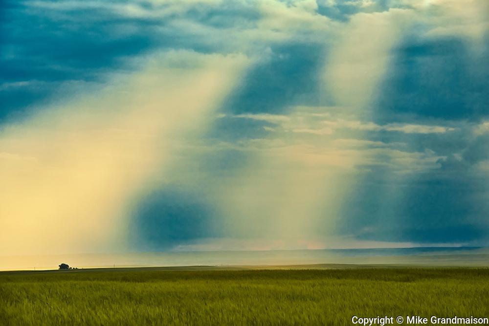 God Rays and stormy sky, Val Marie, Saskatchewan, Canada