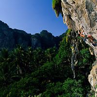 Ola Mattsson climbing Sweating Mekhong, 6c+, Tonsai Beach, Thailand