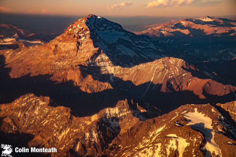 Aconcagua, 6962 metres, highest peak ouside Himalaya, highest peak in the Americas, The Andes, Argentina.