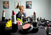 Owner Ida ?? at cosmetics company in Chatsworth, CA. January 4, 2012.  Photo by David Sprague