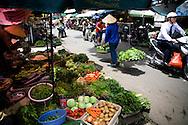 Fresh vegetables for sale along Ngoc Ha street, Hanoi, Vietnam, Southeast Asia