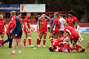 Hull Kingston Rovers players prior to  the Betfred Super League match between Hull Kingston Rovers and Leeds Rhinos at the Lightstream Stadium, Hull, United Kingdom on 29 April 2018. Picture by Mick Atkins.