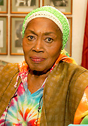 """16 January 2008 - Santa Barbara, CA - Folk Singer Odetta at the Lobero Theatre in Santa Barbara, California.  Odetta who marched with Dr. Martin Luther King Jr. called her the """"Queen of American Folk Music"""" performed for Presidents Kennedy and Clinton, and inspired a young Bob Dylan.    Photo Credit: Rod Rolle/Sipa Press"""