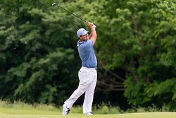 May 9, 2019 - Dallas, TX, U.S. - DALLAS, TX - MAY 09: Patrick Reed hits his approach shot on the ninth fairway during the first round of the AT&T Byron Nelson on May 9, 2019 at Trinity Forest Golf Club in Dallas, TX. (Photo by Andrew Dieb/Icon Sportswire) (Credit Image: © Andrew Dieb/Icon SMI via ZUMA Press)