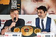 BOXEN: EC Boxpromotion & SES Boxing, Pressekonferenz, Hamburg, 17.12.2019<br /> Sebastian Formella und Promoter Erol Ceylan<br /> © Torsten Helmke