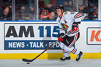 KELOWNA, BC - OCTOBER 20:  Henri Jokiharju #16 of the Portland Winterhawks skates with the puck against the Kelowna Rockets at Prospera Place on October 20, 2017 in Kelowna, Canada. (Photo by Marissa Baecker/Getty Images)