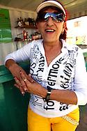 Woman with red hair in Gibara,Holguin,Cuba.
