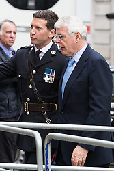 St Martin in the Fields Church, London, May 10th 2016. <br /> Charles, Prince of Wales and Camilla, Duchess of Cornwall to attend a reunion service at St Martin In the Fields followed by a tea party in support of the Victoria Cross and George Cross Association. PICTURED: Former Prime Minister John Major.