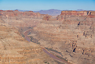 View of the Grand Canyon from above, on the Golden Eagle Air Tour with Papillon Grand Canyon Helicopters, which includes aerial views of the Hoover Dam and Lake Mead as well as the Grand Canyon.