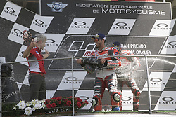 June 3, 2018 - Mugello, Italy, Italy - Valentino ROSSI Andrea DOVIZIOSSI Jorge LORENZO podium winner during Race MotoGP at the Mugello International Cuircuit for the sixth round of MotoGP World Championship Gran Premio d'Italia Oakley on June 3, 2018 in Scarperia, Italy. (Credit Image: © Fabio Averna/NurPhoto via ZUMA Press)