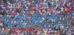 June 25, 2018 - Samara, Russia - Uruguay's fans during the 2018 FIFA World Cup Russia group A match between Uruguay and Russia at Samara Arena on June 25, 2018 in Samara, Russia. (Credit Image: © Foto Olimpik/NurPhoto via ZUMA Press)