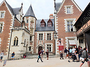 Frankrijk, France, Amboise, 31-8-2019 Loire vallei, kasteel, chateau Amboise staat op wereld erfgoedlijst van Unesco. Centres, Indre et Loire, Loire valley, classified in the world heritage by the Unesco, Amboise castle. Foto: Flip Franssen