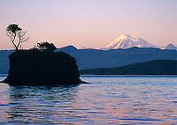 Mt. Baker, Cone Islands, San Juans Islands, Sunset, Washington