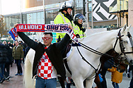 Croatia fan prior to kick off during the UEFA Nations League match between England and Croatia at Wembley Stadium, London, England on 18 November 2018.