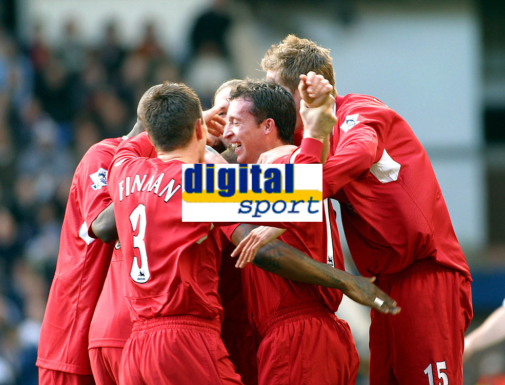 Photo: Dave Linney.<br />West Bromwich Albion v Liverpool. The Barclays Premiership. 01/04/2006 Liverpool's .Robbie Fowler makes it 1-0